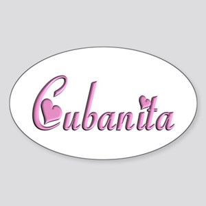 Cubanita - Oval Sticker